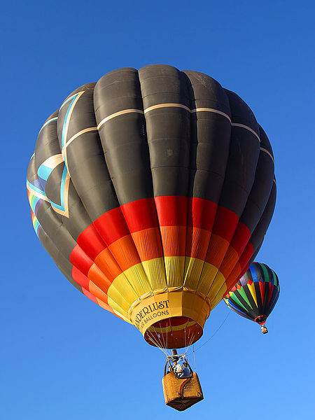 Fahrt im Heißluftballon