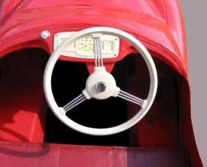 Lenkrad eines Spielzeugautos