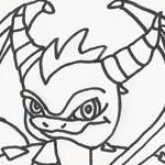 Spyro Skylander Ausmalbild