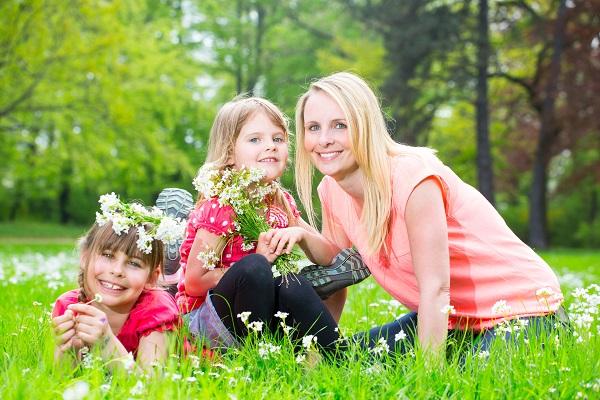 Kindergeburtstag im Frühling